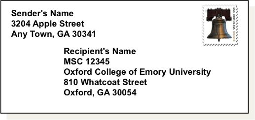 How to write college address